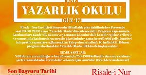 Risale-i Nur Enstitüsü Yazarlık Okulu Başlıyor