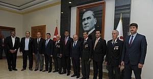 Türkiye Muharip Gaziler Derneği, Vali Çakacak'ı ziyaret etti