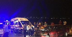 Üç aracın karıştığı kazada 5 kişi yaralandı