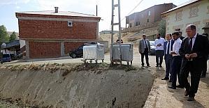 Vali Pehlivan, Soğukgöze Köyü'nde incelemelerde bulundu