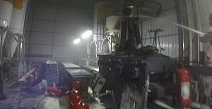 Alüminyum fabrikasında yangın:2 yaralı