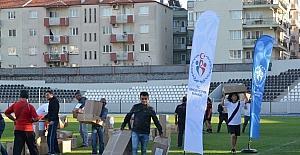 Aydın'da spor kulüplerine malzeme yardımı devam ediyor