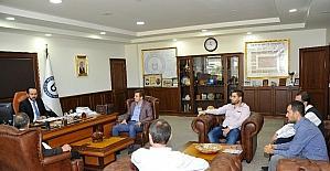 Aydın'daki özel yurt sahiplerinden ADÜ Rektörü Bircan'a ziyaret