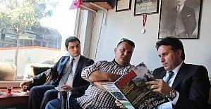 Ayvalık Kaymakamı Görgülüaslan'dan gazetecilere ziyaret