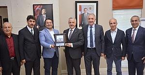 Bakan Arslan'dan Ümit Kalko'ya teşekkür ziyareti