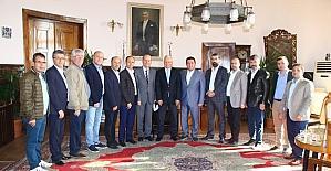 Başkan Bakıcı TCDD Bölge Müdürü Nihat Aslan'ı ziyaret etti