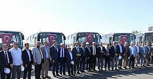 Büyükşehir Belediyesinden 10 ilçeye otobüs desteği