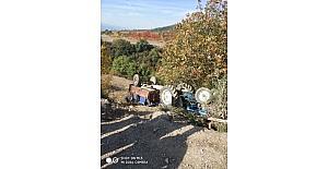 Osmaneli'de traktör kazası 1 Yaralı