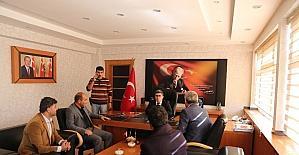 Spor camiasından Kaymakam Çetin'e ziyaret