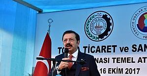 TOBB Başkanı Hisarcıklıoğlu Tosya TSO'nun temelini attı