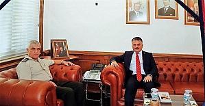 Vali Yazıcı'dan Orgeneral Çetin'e ziyaret