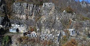 Arı kovanlarını ayılardan korumak için kayalıklara taşıdı