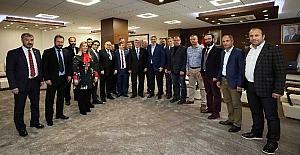 Başkan Karaosmanoğlu, KASKF başkanını konuk etti