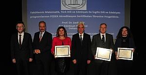 BEÜ'de FEDEK akreditasyon belgesi takdim töreni