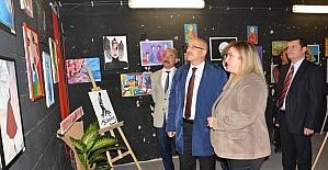 Dumlupınar ortaokulu'dan sanat sergisi