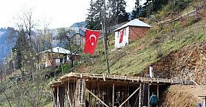 Eren'in şehit olduğu yerde ailesine ev yapılıyor