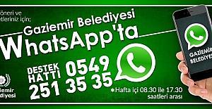 Gaziemir Belediyesi WhatsApp'ta