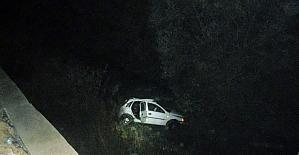 Kaza sonrası ırmakta kayıp kişi arandı