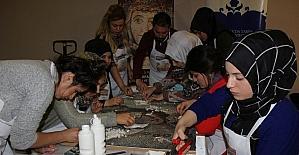 Mozaik çalıştayı atölye çalışmasıyla devam etti