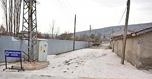 Oklubal mahallesindeki kilit taşı döşeme çalışması tamamlandı