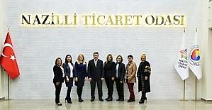 TOBB Aydın Kadın Girişimciler Kurulu, Nazilli Ticaret Odası'nda toplandı