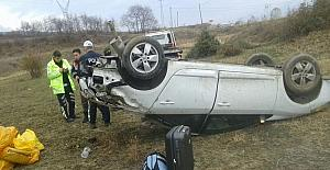 Tosya'da 2 ayrı trafik kazasında 6 kişi yaralandı