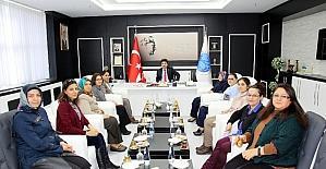 Sosyal Projeler Komisyonu Üyeleri Rektör Karacoşkun ile bir araya geldi