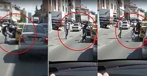 Kadın yolcuyu arabadan atan taksici yakalandı