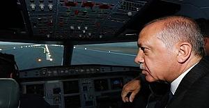 Cumhurbaşkanı 3. havalimanına ilk inişi gerçekleştirdi