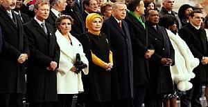 Cumhurbaşkanı Paris'te törene katıldı