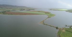 Geçtiğimiz yıl kuruyan baraj bu yıl doldu taştı