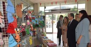 Öğrencilerin geliştirdiği eğitim materyalleri ziyaretçilerle buluştu