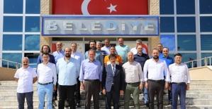 Erzincanspor yönetiminden Başkan Aksun'a ziyaret
