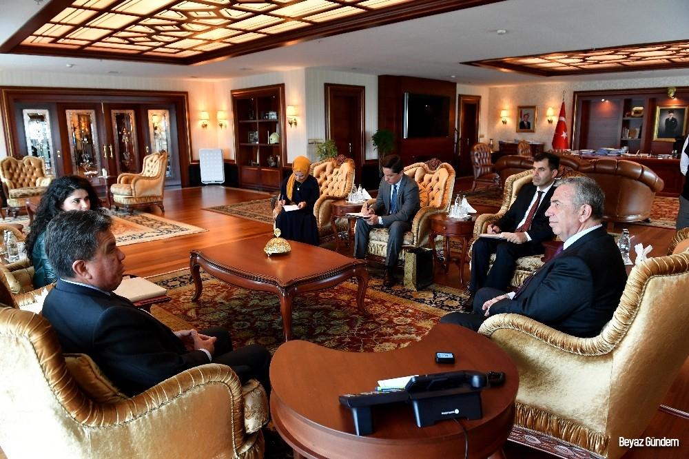 Arjantin ve Peru büyükelçilerinden Başkan Yavaş'a ziyaret