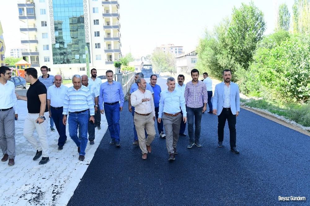 Başkan Çınar, Tecde Mahallesinde çalışmaları inceledi