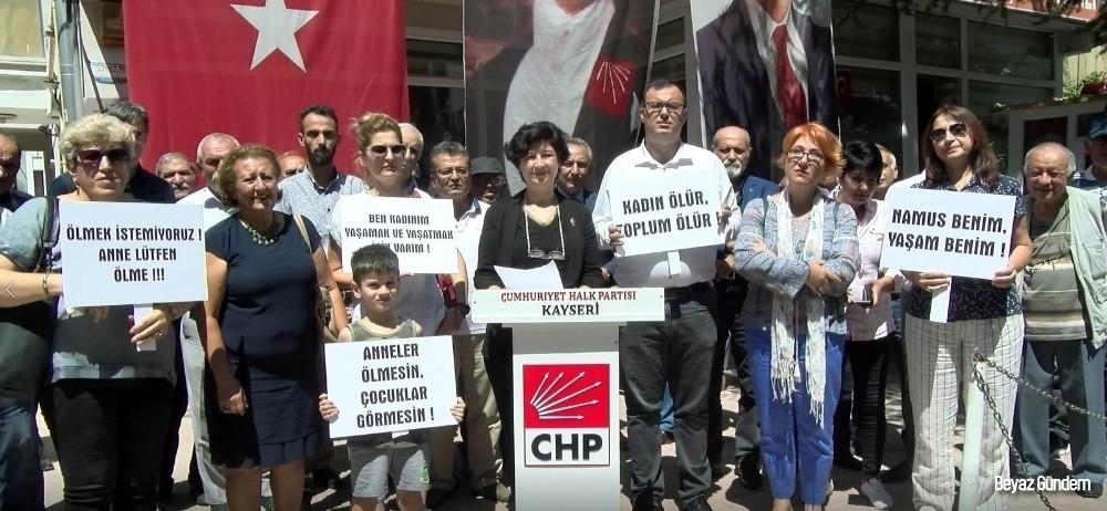 CHP' Kadın Kollarından kadın cinayetlerine tepki