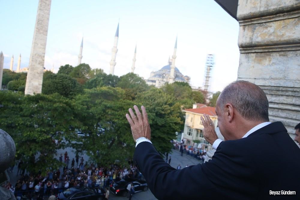 Cumhurbaşkanı Erdoğan, Sultanahmette...