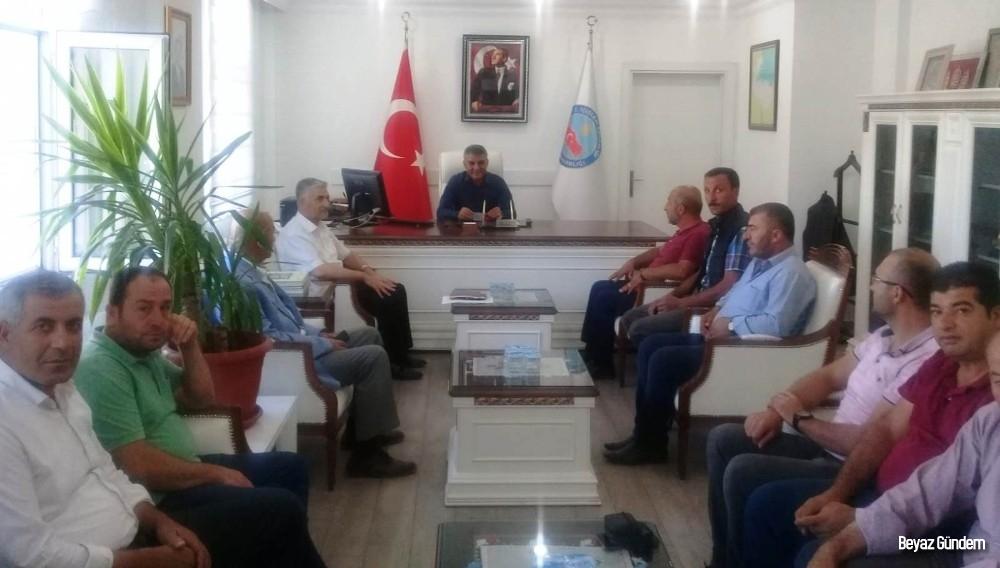 Mahalle muhtarlarından Kaymakam Özkan'a ziyaret
