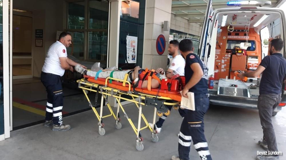 Siirt'te inşaattan düşen işçi yaralandı