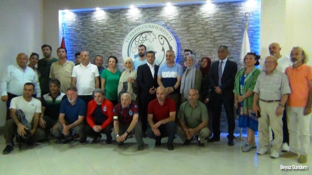 Trabzonlu gazetecilerden Erciş Kaymakamlığına ziyaret