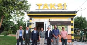 Başkan Tahmazoğlu taksicileri ziyaret etti