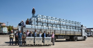 Çevre Ve Şehircilik Bakanlığından Hüyük'e konteyner desteği
