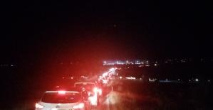Panayır yolunda trafik çilesi......