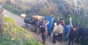 Ağır yaralanan traktör sürücüsü...