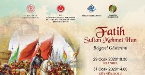 Fatih Sultan Mehmet Han belgeseli izleyiciyle buluşacak