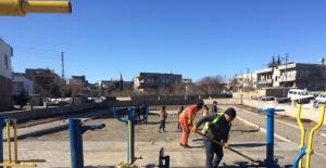 Kahta'daki parklar bakım ve onarımdan geçiyor