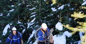 (ÖZEL) 2600 rakımda 1,5 metre karda...