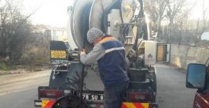 Safranbolu'da belediyesi aralıksız çalışıyor