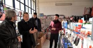 Vali Şentürk, küçük sanayi sitesi esnafıyla buluştu