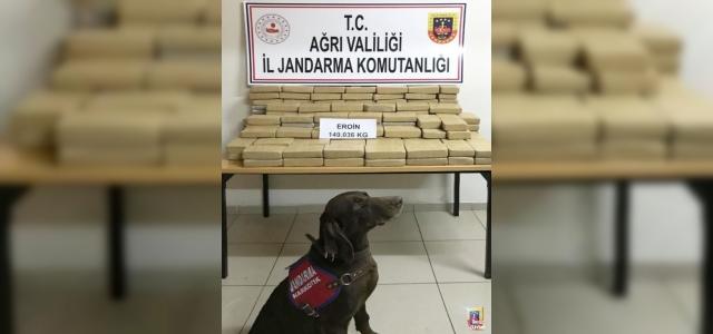 Ağrı'da 148 kilogram eroin ele geçirildi